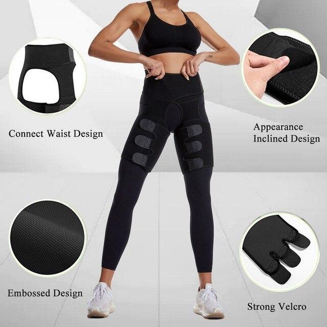NEW Thing Waist Wrap Neoprene Thigh Shaper Sweat Thigh Trimmers Leg Shaper Lose Weight Slimming Belt Butt Lifter Compress Belt 3