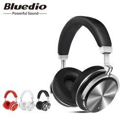 الأصلي Bluedio T4S بلوتوث سماعة رأس بمايكروفون ANC إلغاء ضوضاء فعال سماعات رأس لاسلكية