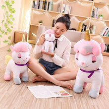 Kawaii Giant Unicorn Plush Toy Soft Stuffed Unicorn Soft Dolls Animal Horse Toys For Children Girl Pillow Birthday Gifts(China)