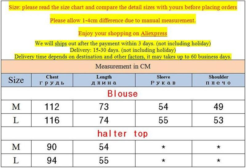 High quality 2pcs Women Blouse Shirt 2020 Summer Solid All match Satin Blouses Shirts Femal Blouse+halter tops Z1082 1