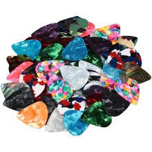 100pcs/set Practical Durable Celluloid Guitar Pick Standard Punch 0.38mm-0.8mm For Acoustic And Electric Bass Choo