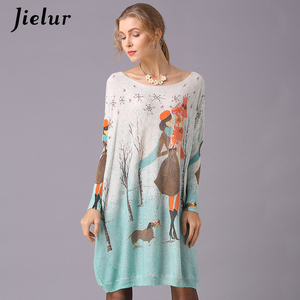 Image 4 - Jielur Sweater Women Cartoon Printed Long Sleeve Jumper Kawaii Knitted Sweaters Spring Autumn Pullover Basic Pull Femme