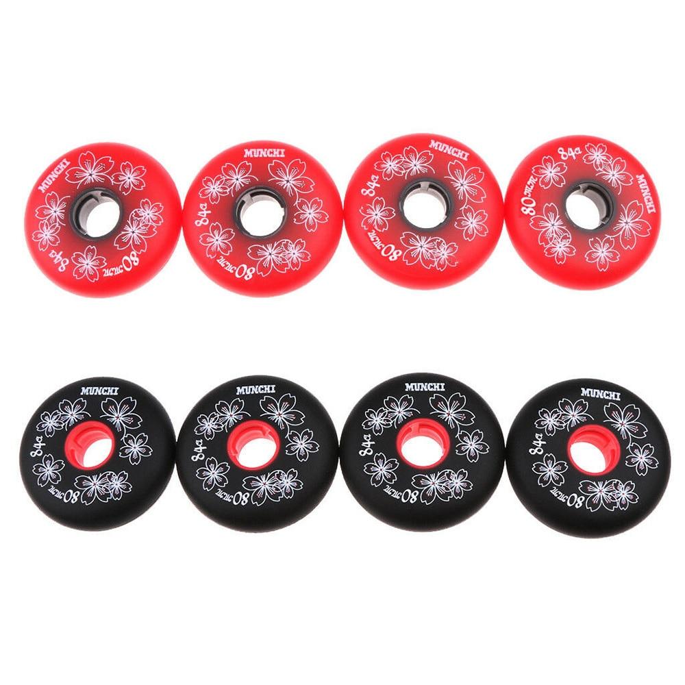 4pcs/set Heavy Duty Inline Roller Hockey Fitness Skate Replacement Wheel