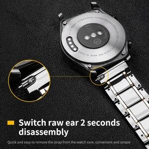 Image 4 - 20mm 22mm Bracelet de montre en céramique pour Samsung Galaxy montre 3 actif 2 Bracelet Gear S3 Bracelet frontière pour Amazfit GTS 2 GTR 2 Pop