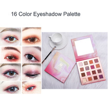 цены 16 Colors Nude Shining Glitter Eyeshadow Palette Shimmer Matte Long Lasting Makeup Powder Pigment Waterproof Eyeshadow Cosmetic