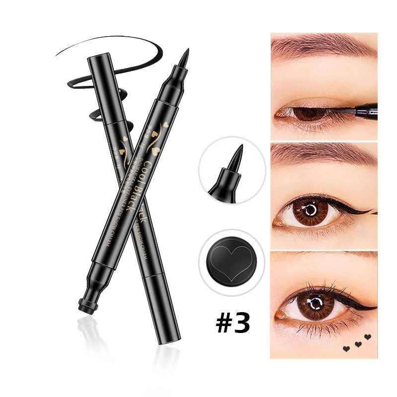 Водостойкая жидкая подводка для глаз с двойной головкой, карандаш для глаз, тиснение, карандаш для глаз, женские инструменты для макияжа, любовь/звезда/луна, TSLM2