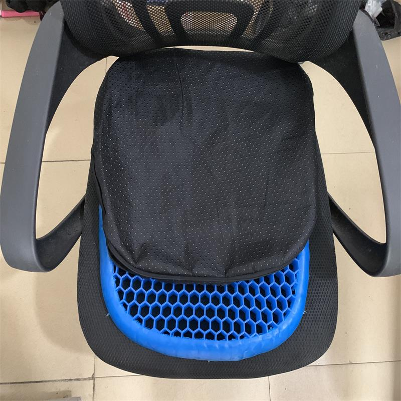 3d honeycomb almofada de gelo gel almofada antiderrapante macio e confortável ao ar livre massagem escritório cadeira almofada tapete - 5