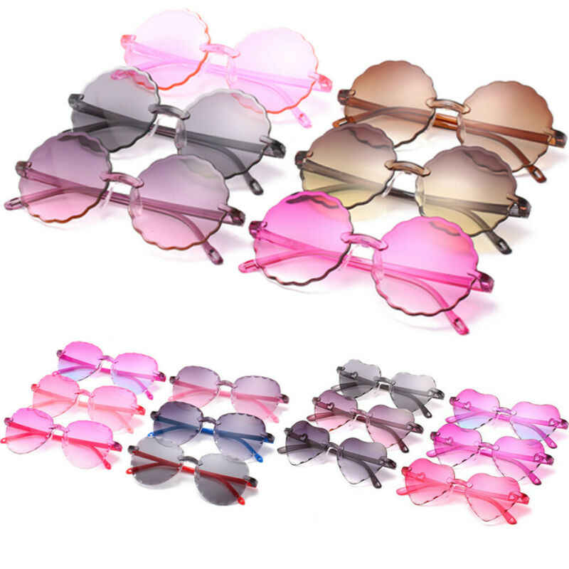 Children kids Boys Girls Spring Summer Autumn Sunglasses Shades Holiday Outdoor Beach Wear Glasses Eye Protection