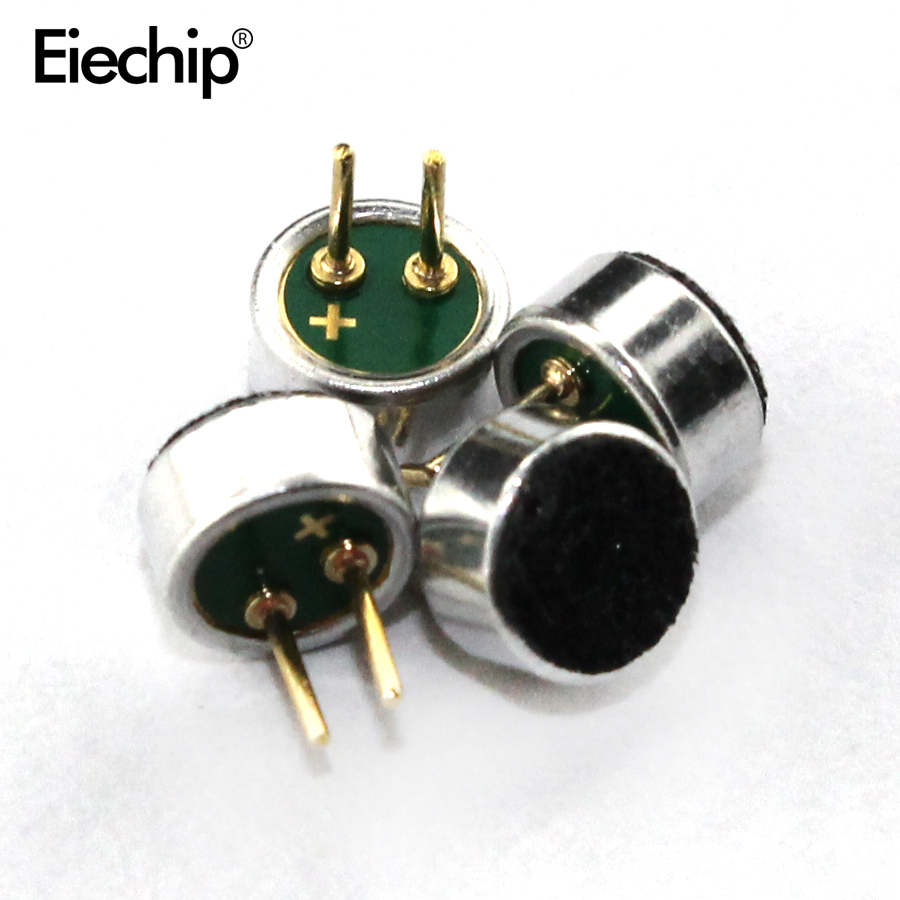 6*2.2mm Microphone Capacitive Electret Microphones Pick Up Sensitivity Electret Condenser 6mmx2.2mm Loudspeaker Mic For Arduino