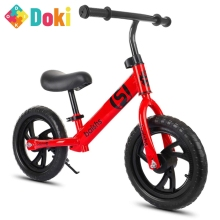 Doki Toy 12 Inch Balance Bike Walker Kids Ride On Toy For 2-6 Years Old Children Learning Walk Two Wheel Scooter No Foot Pedal