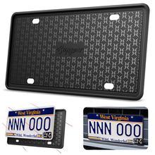 Силиконовая рамка номерного знака устойчивая к царапинам Антикоррозийная Автомобильная крышка для номерного знака Cadre de Plain d'immatriculation en силиконовый держатель