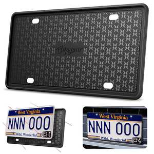 License-Plate-Frame Silicone-Holder D'immatriculation Cadre-De-Plaque Scratch-Resistant-Rust-Proof
