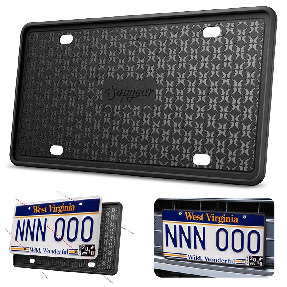 Silicone License Plate Frame Scratch-resistant Rust-proof Car License Cover Cadre De Plaque D'immatriculation En Silicone Holder