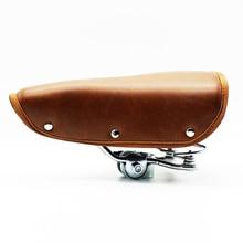 Sillín de Bicicleta Retro Vintage, sillín de Bicicleta remachado, asiento de Bicicleta clásico con cubierta de asiento duradero de primavera, accesorios de Bicicleta
