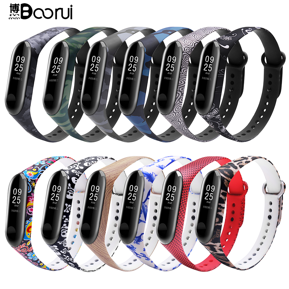 BOORUI Wrist Strap For Xiaomi Mi3 Band Varied Miband 3 Strap Mi3 Replacment Accessories New Colorful Bracelet Belt For Miband3