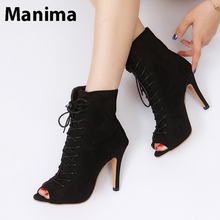 2020 new summer women's shoes fashion open-toed ladies high heels lace-up high-heeled sandals women's plus size women's sandals black leather look lace up ladies heeled sandals