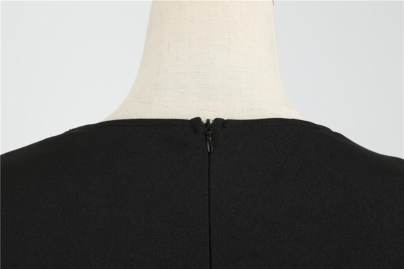 Women Long Sleeve Winter Vintage Dresses Sexy Black Music Note Print V-neck Rockabilly Pin up Party Dress Vestidos Plus size 585