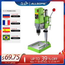 ALLSOME MINIQ BG-5156E Bench Drill Stand 710W Mini Electric Bench Drilling Machine Drill Chuck 1-13mm HT2600