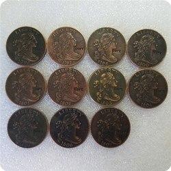 США 1796-1807 драпированный бюст большие центы копия монет