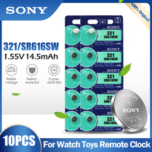 Battery SR616 Sony Calculator Button-Cell-Coin Watch Silver 321 Original 10PCS for Toy
