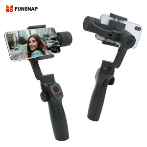 FUNSNAP Capture2 3-Axis Handheld Gimbal Smartphone Stabilizer for GOPRO5/6/7 EKEN 1 Sports Camera for Cellphone under 6.5 Inch