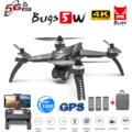 Mjx bugs 5w b5w profissional rc zangão com câmera 4 k zangão 5g wifi brushless rc quadcopter gps foto gesto vs h501s