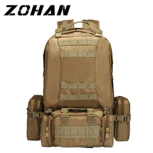 50L Outdoor Backpack Molle Military Tactical Army Rucksack Sports Bag Waterproof Camping Hiking For Travel