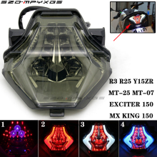 Suitable for motorcycle R3 R25 MT-25 MT-07 integrated LED tail light turn signal YAMAHA YZF-R25 YZF-R3