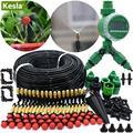 Комплект автоматической системы полива KESLA 5-50 м, садовая система «сделай сам» с таймером и микро капельным орошением, с распылителем и охлаж...