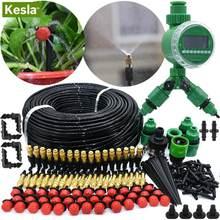 Kesla 5M-50M Automatische Tuin Besproeiing Kits Timer Controller Diy Tuin Micro Drip Irrigatie Mist Spray koelsysteem