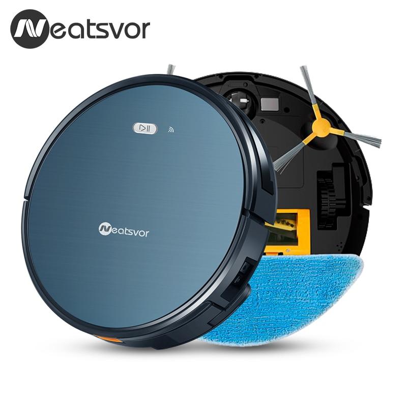 NEATSVOR X500 1800PA Robot Vacuum Cleaner 3in1 Wet Dry Mop WIFI Map Navigation Smart Memory Anti NEATSVOR X500 1800PA Robot Vacuum Cleaner,3in1 Wet Dry Mop,WIFI Map Navigation,Smart Memory,Anti Collision,Robot Aspirador