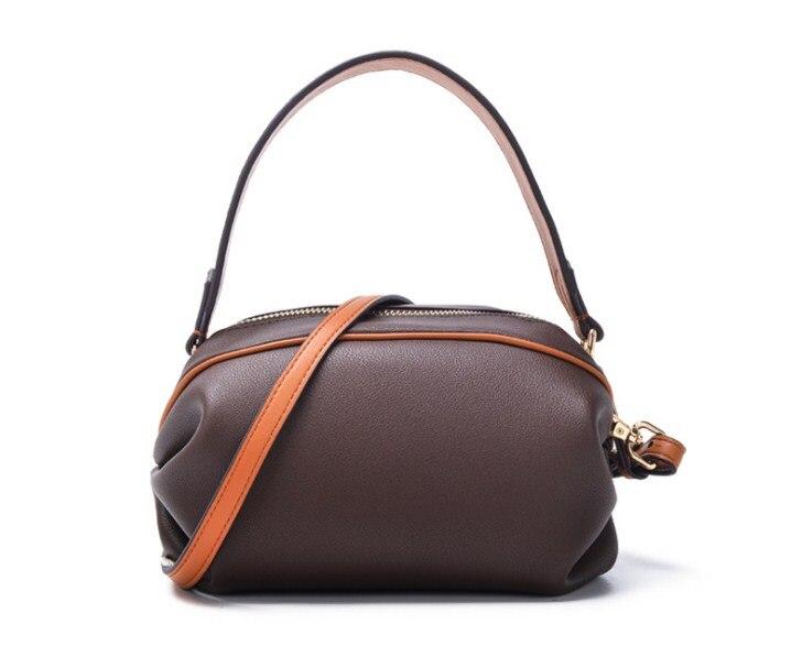 2019 nieuwe stijl split lederen vrouwen kleine handtas met lange riem crossbody tassen - 3