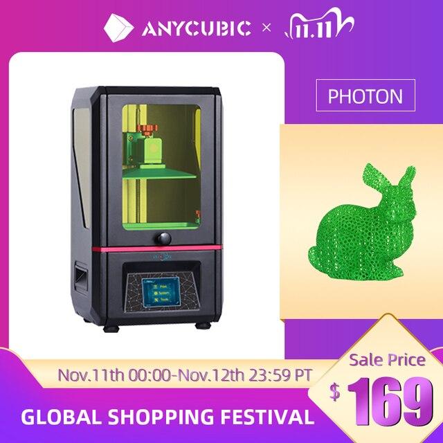 ANYCUBIC impresora 3D Photon de talla grande, pantalla 2K, fuera de línea de dibujo, UV, LCD, 405nm, resina, de escritorio
