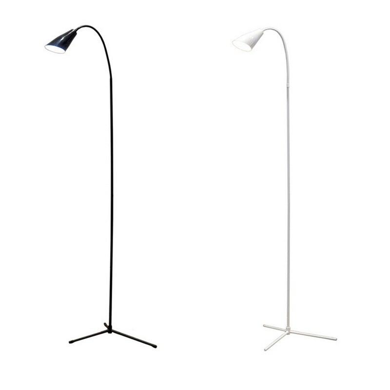 Светодиодный светильник для пола с гибким гусином, стоящим диммером, USB, с стабильной основой, стоящая лампа для чтения, для офиса, кабинета, спальни