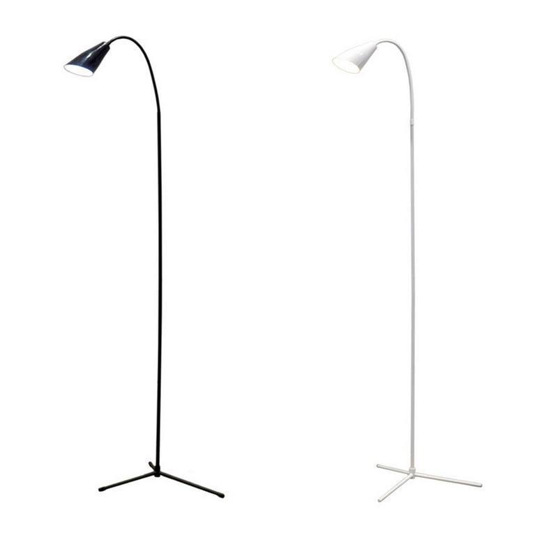 LED Floor Lamp Flexible Gooseneck Standing Dimmer USB Light With Stable Base Standing Reading Lamp For Office Study Bedroom
