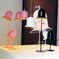 Модная милая розовая Напольная Лампа для спальни  Современная вертикальная лампа с колокольчиком для гостиной