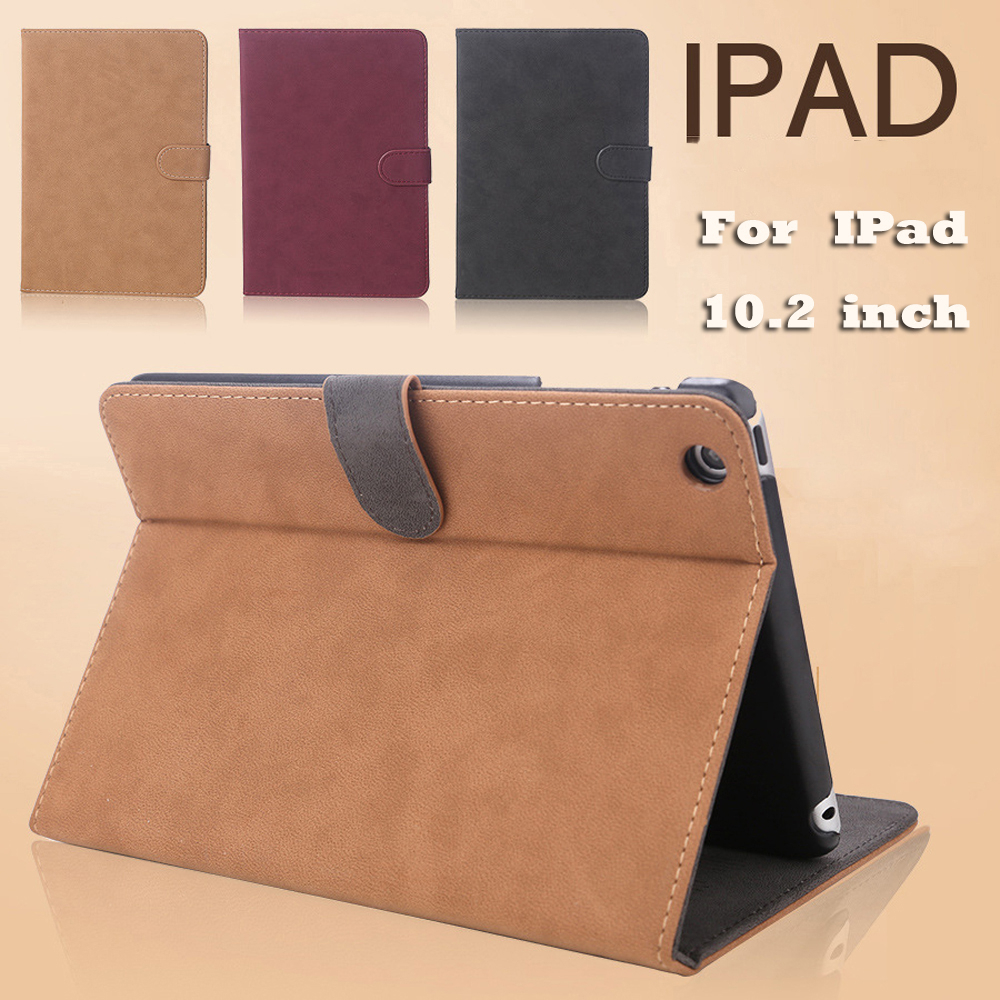 Scrub Leather Case For IPad 10.2 Case Wakeup/Sleep Cover Case For iPad Air 2 Case 2018 9.7 Case For IPad 7th Generation Case title=