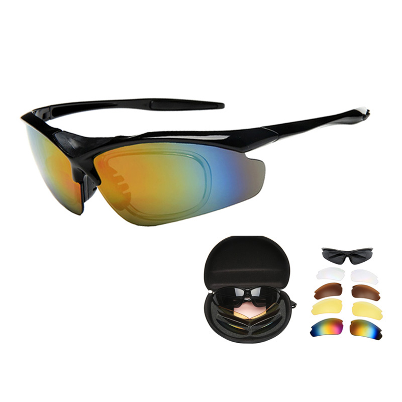 Multi-funtional Shooting Glasses 5 Len/set Anti-impact Military Tactical Goggles Specialized Paintball Airsoft Hunting Eyewear
