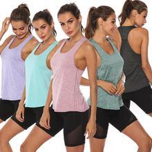 Sleeveless Yoga Vest Sport Singlet Women Athletic Fitness Tank Tops Gym Running Training Shirts
