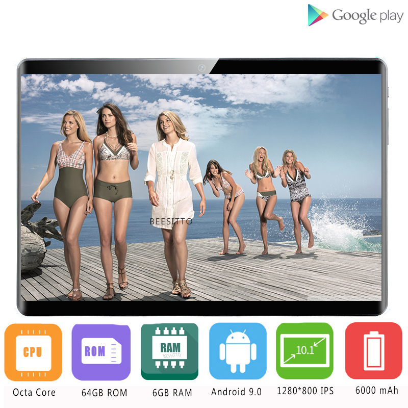 2020 New Google Android 8.0 10 Inch Tablet 4G FDD LTE Octa Core 6GB RAM 128GB ROM 1280x800 IPS Wifi Kids GPS Tablet 10 10.1 Gift