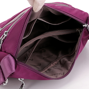Image 4 - النساء النايلون حقائب كتف حقيبة يد السيدات الأفاق حمل Crossbody حقيبة محفظة متعددة الوظائف متعددة طبقة أعلى مقبض حقيبة ساع