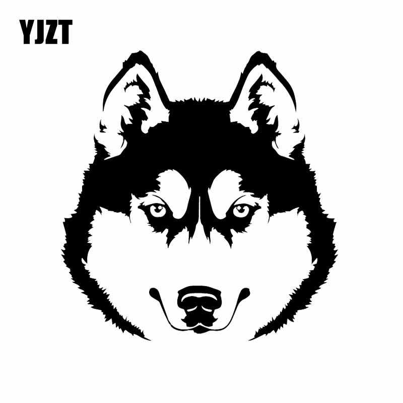 "Auto Car Sticker Decal Dog Head Pet Husky Animal Laptop Window 5/"" by 7/"" ig132c"