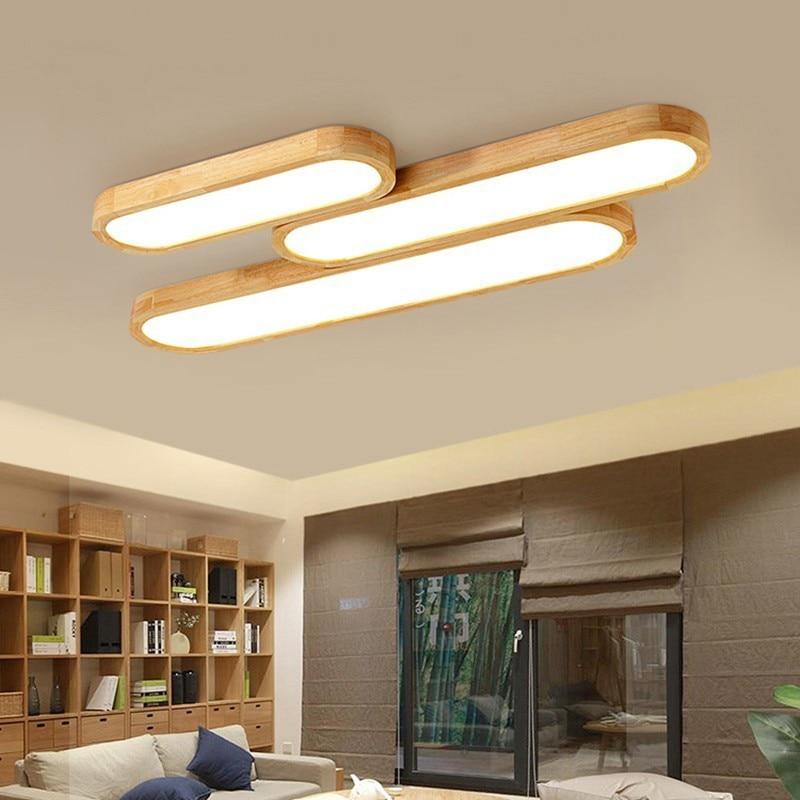 Big Discount B576 Remote Control Ceiling Lights Wooden Decorative Ceiling Lamps Panels For Living Room Bedroom Lamp Deckenleuchten Cicig Co
