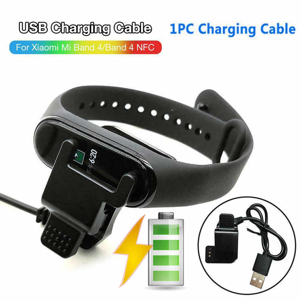 Kabel Pengisian USB Pembongkaran-Gratis Kabel Charger Adaptor untuk Xiao Mi Mi Band 4/Band 4 NFC Gratis dibongkar Kembali Klip Charger
