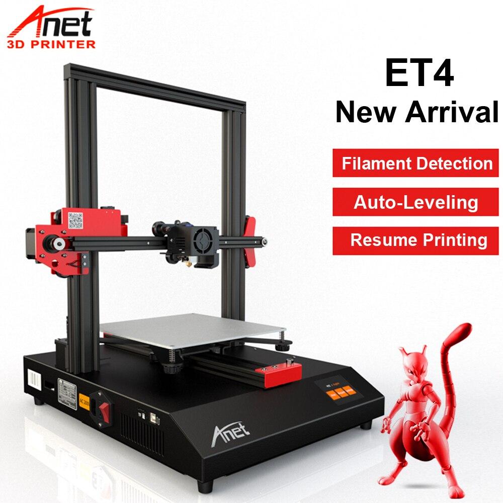 Nova Anet ET4 Auto Nível 3D Tamanho 220*220*250 milímetros de Alta Precisão Impressora Reprap Prusai 3 Tridimensional kit Impressora de impressão DIY 3D