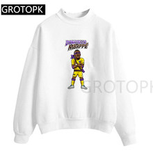 Sweatershirt Donatello Mbappe Psg Foot Unisexe Manches Courtes 100% Cotton Long Sleeve Tops Shirts 2019 New Womens(China)