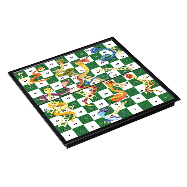 Foldable Magnetic Board Snake & Ladders Chess Game Interactive Desktop Party Toy Interactive Party Games Christmas Board Games 2