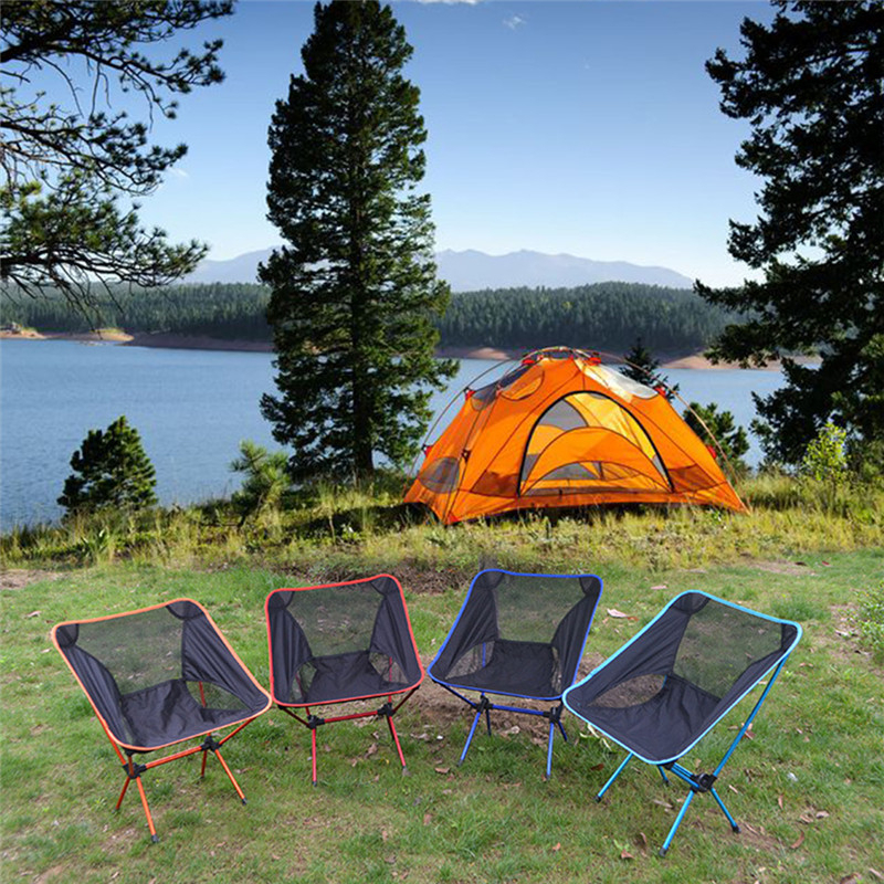 Ultralight Collapsible Portable Chair Fishing Camping Bbq Extended Hiking Folding Seat Garden Office Outdoor Furniture