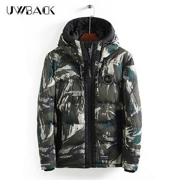 2019 Winter Men's Jacket  Camouflage Hoodies Thick Warm Padded Parka Coat Casual Outwear Loose Men's Overcoat  DA018