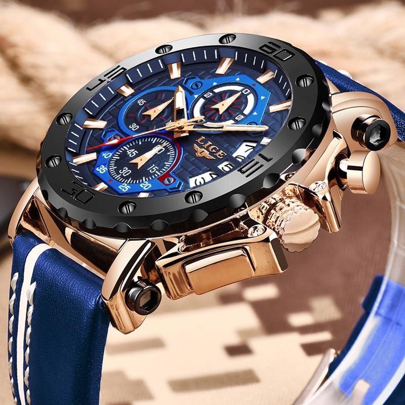 Reloj 2020 Men Quartz Watch Top Brand Luxury Military Sports Wrist Watch Leather Strap Waterproof Mens Watches Relogio Masculino